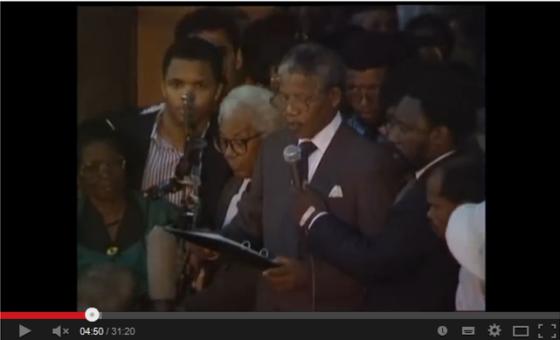 Mandela Release Speech Feb 1990